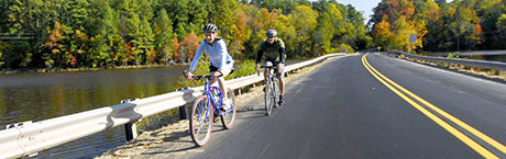 Bicyclists riding on a North Carolina Road