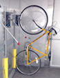 Picture of bicycle on train rack