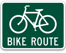 Bike Routes sign