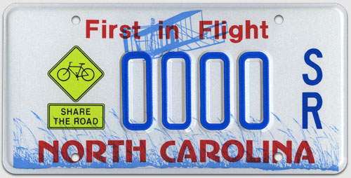 Share the Road License Plate example