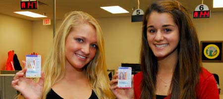 Teen drivers holding license