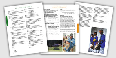 Pages from the Scenic Byways Teacher's Guide