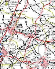 Edgecombe County Map