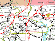 Hertford County Map