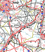 Johnston County Map
