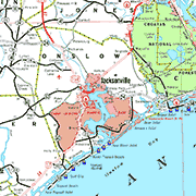 Onslow County Map