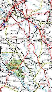 Sampson County Map