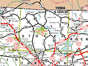 Stokes County Map