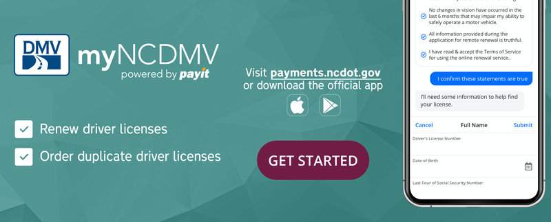 North Carolina myDMV Login