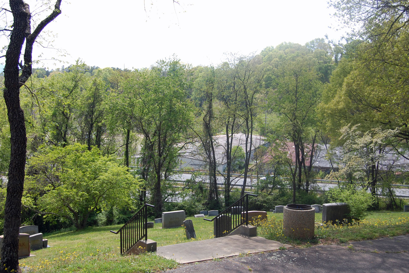 Riverside Cemetery viewpoint 1 existing