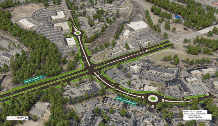 N.C. 73 improvements at Northcross Drive